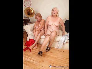 Señoras de edad omageil y diapositivas de fotos de granny verdadera