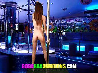 Las audiciones de la chica tailandesa flaca serán bailarinas gogo