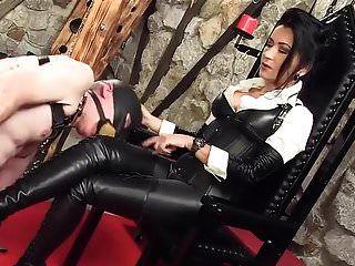 Adoración de botas Dama de cuero alemana