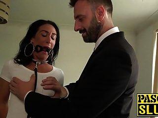 Morena milf ella bella obtiene sexo anal duro de pascal