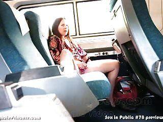 Ama de casa se masturba en un tren mientras su marido filma