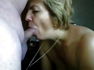 follar en la boca madura