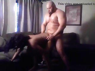 sexy, con curvas negro milf con semental muscular