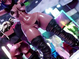 3d mmd futanari strip club