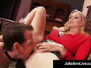 mami la querida julia ann castiga a su hijo si se pone duro