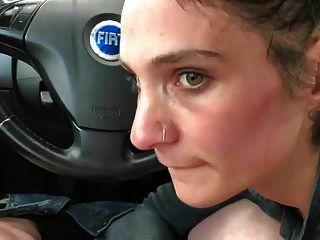mamada de coche amateur 07