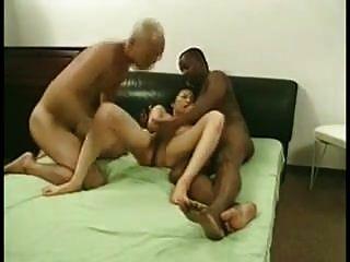 amateur mmf trío esposa asiática compartido