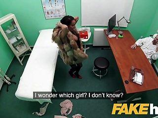 hospital falso paciente de piel sexy vestido quiere buena puta