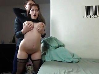 Gran tit amateur follada duro en casa