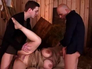 Kinky big titted asiática milf obtiene atado, castigado y dp