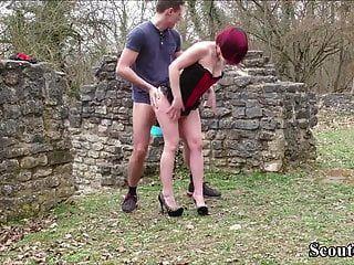 alemana amateur adolescente pareja follar al aire libre para propia película porno