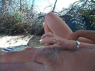 loción bronceadora de playa madura