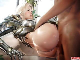 Compilación de sexo 3d con sexo duro y montando pollas.
