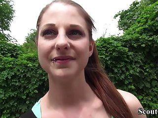 Pia scout alemana (18) seducir anal fuck en casting de calle