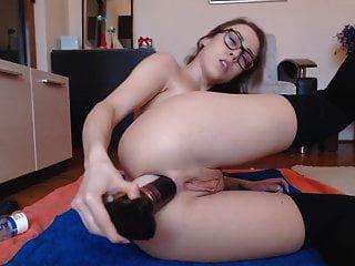 Rubia sexy ama anal y presumir prolapso capullo de rosa