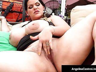 cubana bbw angelina castro dedos coño y boca folla una polla